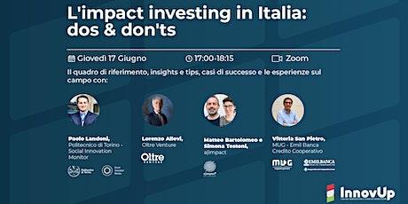 L'impact investing in Italia: dos & don'ts biglietti