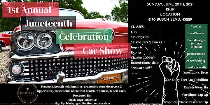 1st Annual Juneteenth Celebration Car Show image