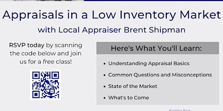 Appraisals in a Low Inventory Market tickets