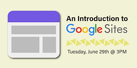 An Introduction to Google Sites tickets