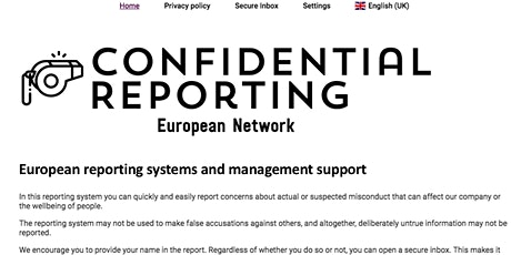 European whistleblowing systems and management support tickets
