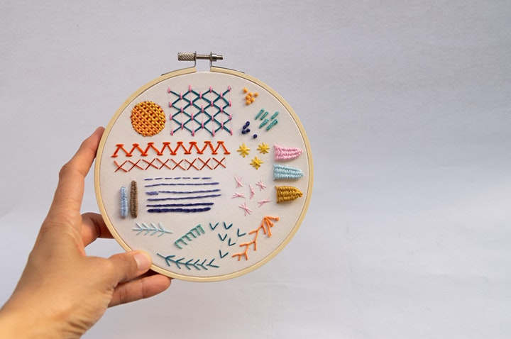 Introductory Sampler Embroidery with Marcelina Salazar image