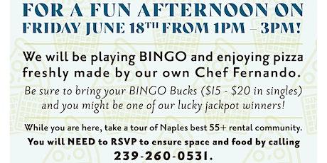 Pizza and Bingo tickets