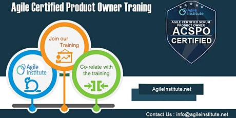Agile Certified Product Owner tickets