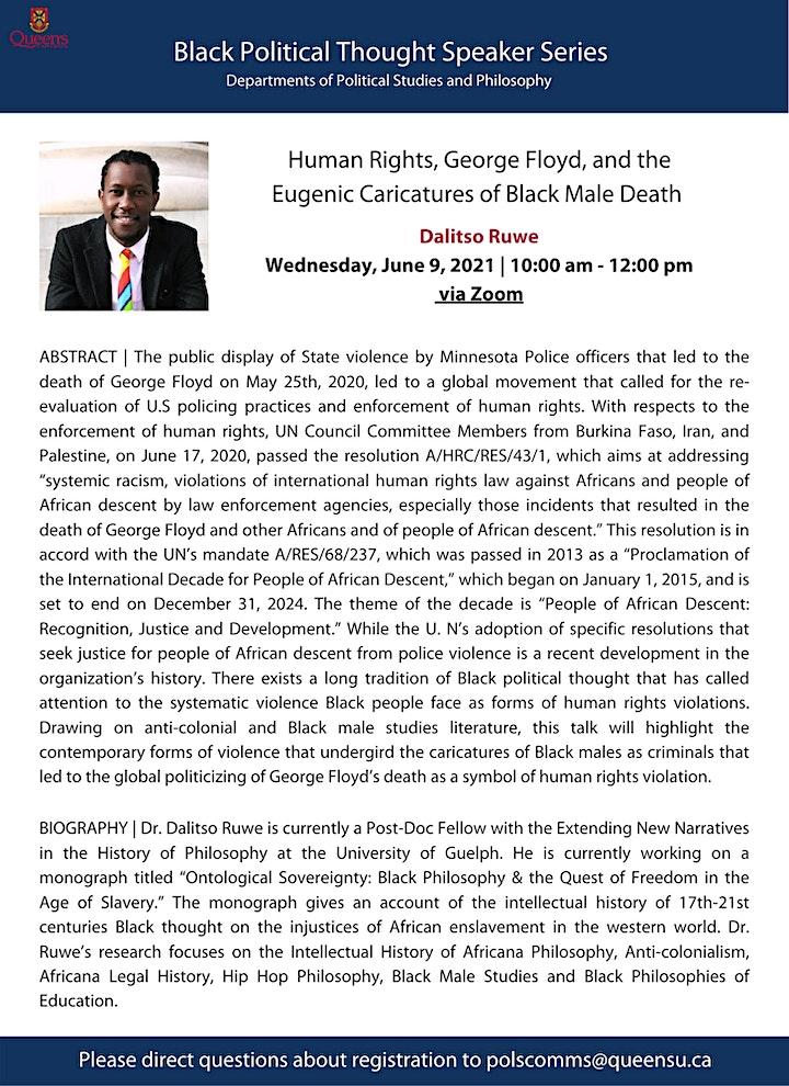 Dalitso Ruwe - Black Political Thought Speaker Series image