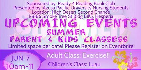 Summer Fun Classes - Parents  Stress Management & Children's Rethink Drinks tickets