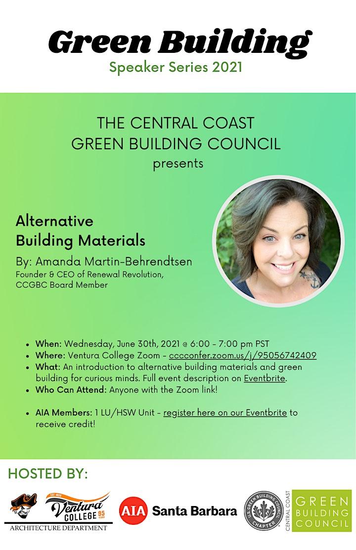 Green Building Speaker Series: Alternative Building Materials image