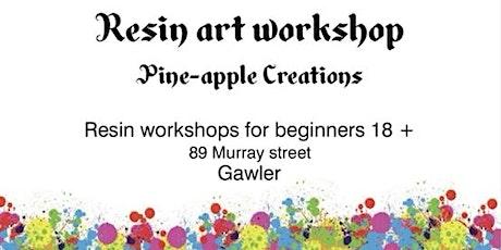 Resin art workshop (beginners 18+) GAWLER tickets