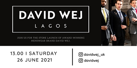David Wej menswear Central London Store Launch tickets