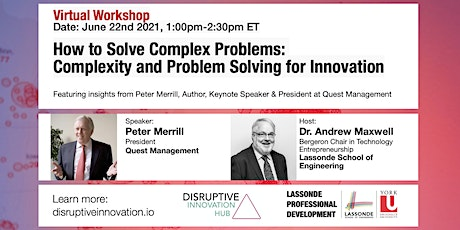 How to Solve Complex Problems:Complexity and Problem Solving for Innovation tickets