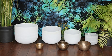 June Online Sound Bath with Crystal Bowls and Singing Bowls tickets