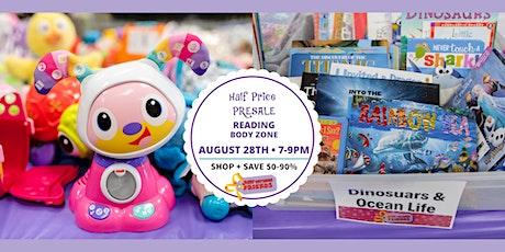 JBF Reading: HALF PRICE PRESALE ($10/FAMILY) tickets