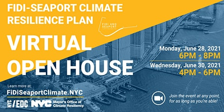 FiDi Seaport Climate Resilience Master Plan: Virtual Open House 6/28 tickets