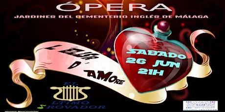 OPERA - L'Elisir d'Amore - en el Cementerio Inglés de Málaga entradas