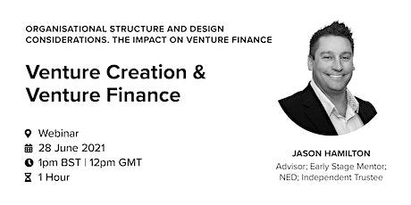 Venture Creation & Venture Finance tickets