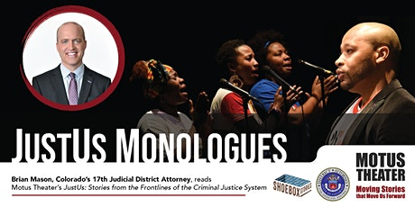 JustUs: Stories from the Frontlines of the Criminal Justice System tickets