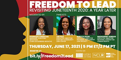 Freedom to Lead - Revisiting Juneteenth 2020: A Year Later tickets