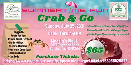 Cultured Pearls of Service, Inc. Crab & Go Fundraiser tickets