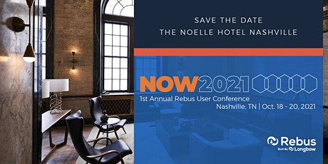 NOW 2021 - First Annual Rebus User Conference tickets