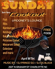 SUNDAY COOKOUT at Mooneys Lounge!! tickets