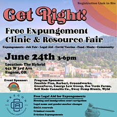 Oregon Cannabis Expungement Clinic, Job & Resource Fair tickets