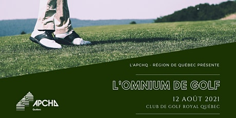 Omnium de Golf 2021 de l'APCHQ - région de Québec billets