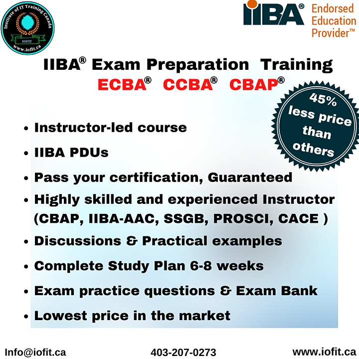 Free Info - Session on  IIBA®  BA Core Certifications - ECBA - CCBA - CBAP image