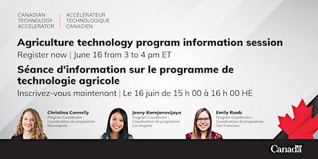 Canadian Technology Accelerator Webinar: LA/SFran/Mpls - AgTech Program tickets