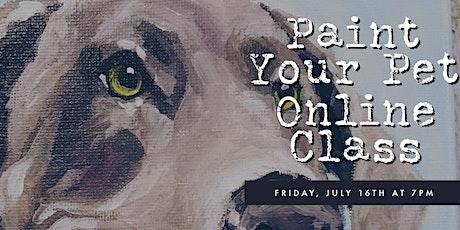 Paint Your Pet Online Class tickets