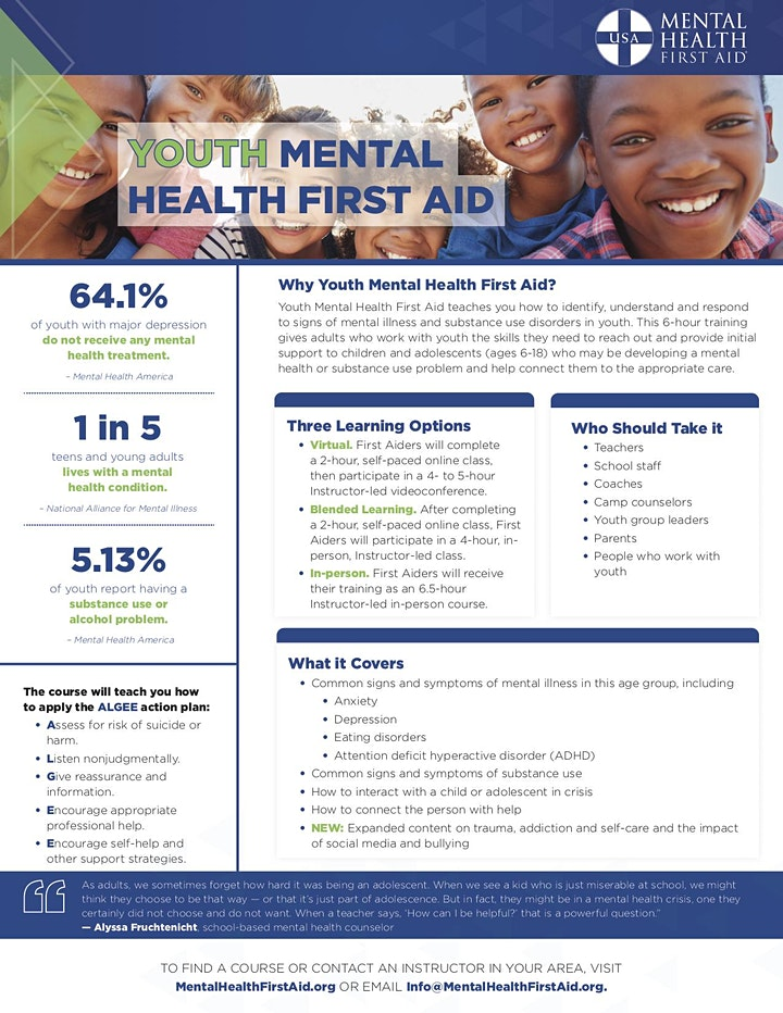 Youth Mental Health First Aid 2021 image