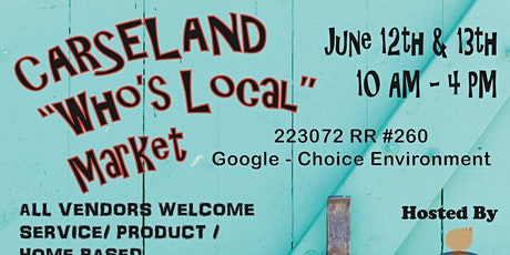 Who's Who Carseland Public Market tickets