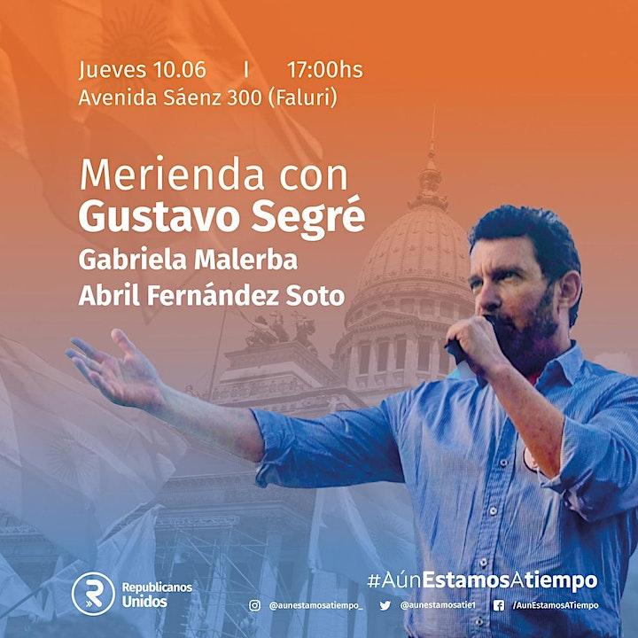 Imagen de Merienda con Gustavo Segré. Comuna  4