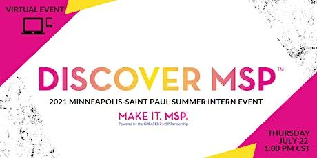 2021 Discover MSP Virtual Intern Event tickets