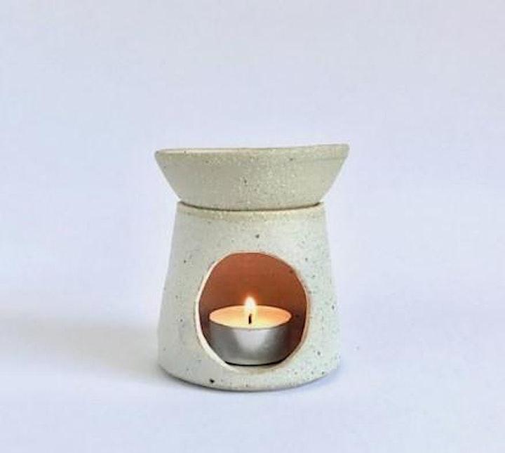 Oil Burner or Tealight Holder | Pottery Workshop w/ Siriporn Falcon-Grey image