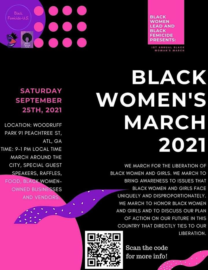 Black Women's March 2021! image