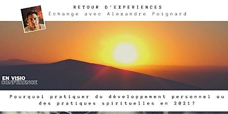 Retour d'expériences - Échange avec Alexandre Poignard billets
