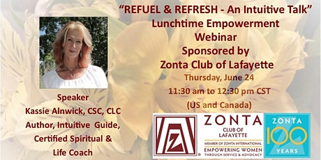 Zonta Club of Lafayette Lunchtime Empowerment Webinar tickets