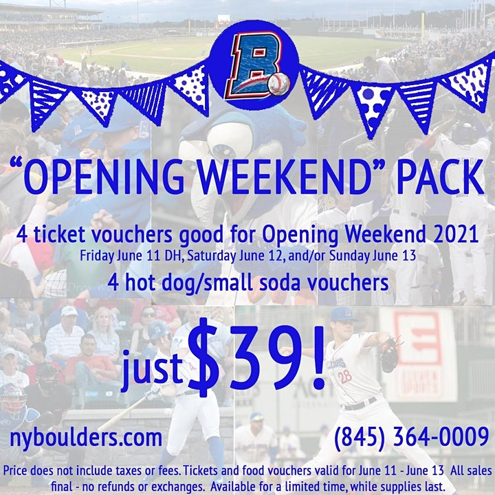 NY Boulders Opening Weekend Pack! image