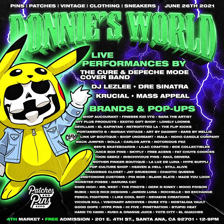 """Patches & Pins Festival Orange County """"Donnies World"""" : Pickers Playground image"""