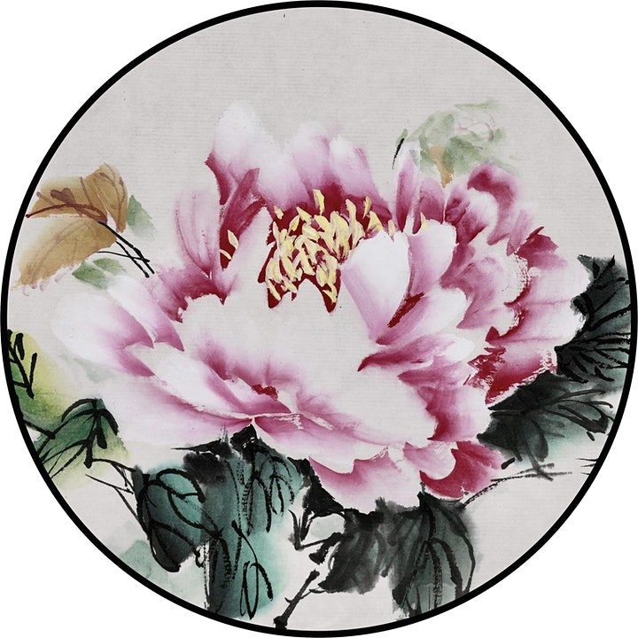 Chinese Brush Painting on Silk Fan image