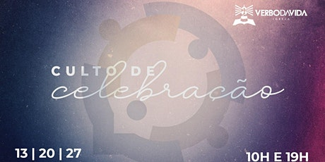 Culto de Celebração - 13/junho/2021 bilhetes