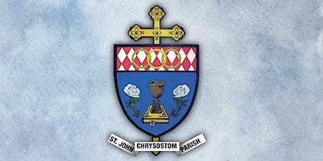 Register for Mass at St. John Chrysostom Parish tickets