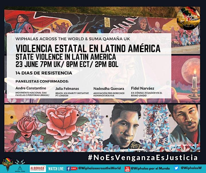 Violencia estatal en Latino América  /  State violence in Latin America image