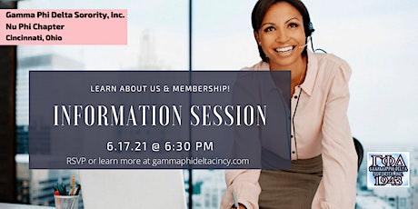 Nu Phi Chapter Membership Information Meeting tickets