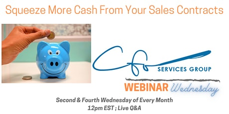 Webinar Wednesday -  Squeeze More Cash From Your Sales Contracts tickets
