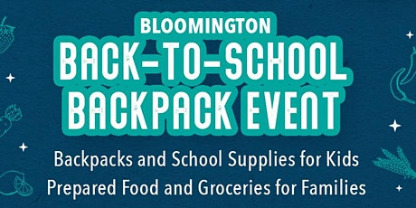 We need volunteers for our upcoming back-to-school event in Bloomington! tickets