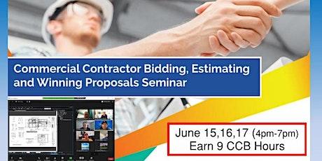 3 Day- Livestream: Commercial Contractor Bidding & Proposals Seminar (6/15) tickets