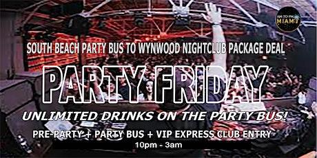 Miami Beach Party Bus To Miami Wynwood Nightclub - Friday Nightlife tickets