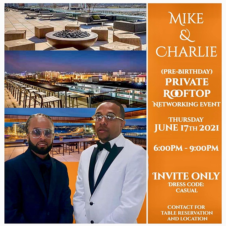 Mike & Charlie (Pre Birthday) PRIVATE Rooftop Networking Event image