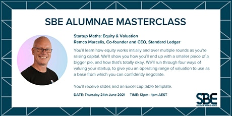 SBE Alumnae Masterclass: Startup Maths: Equity and Valuation tickets
